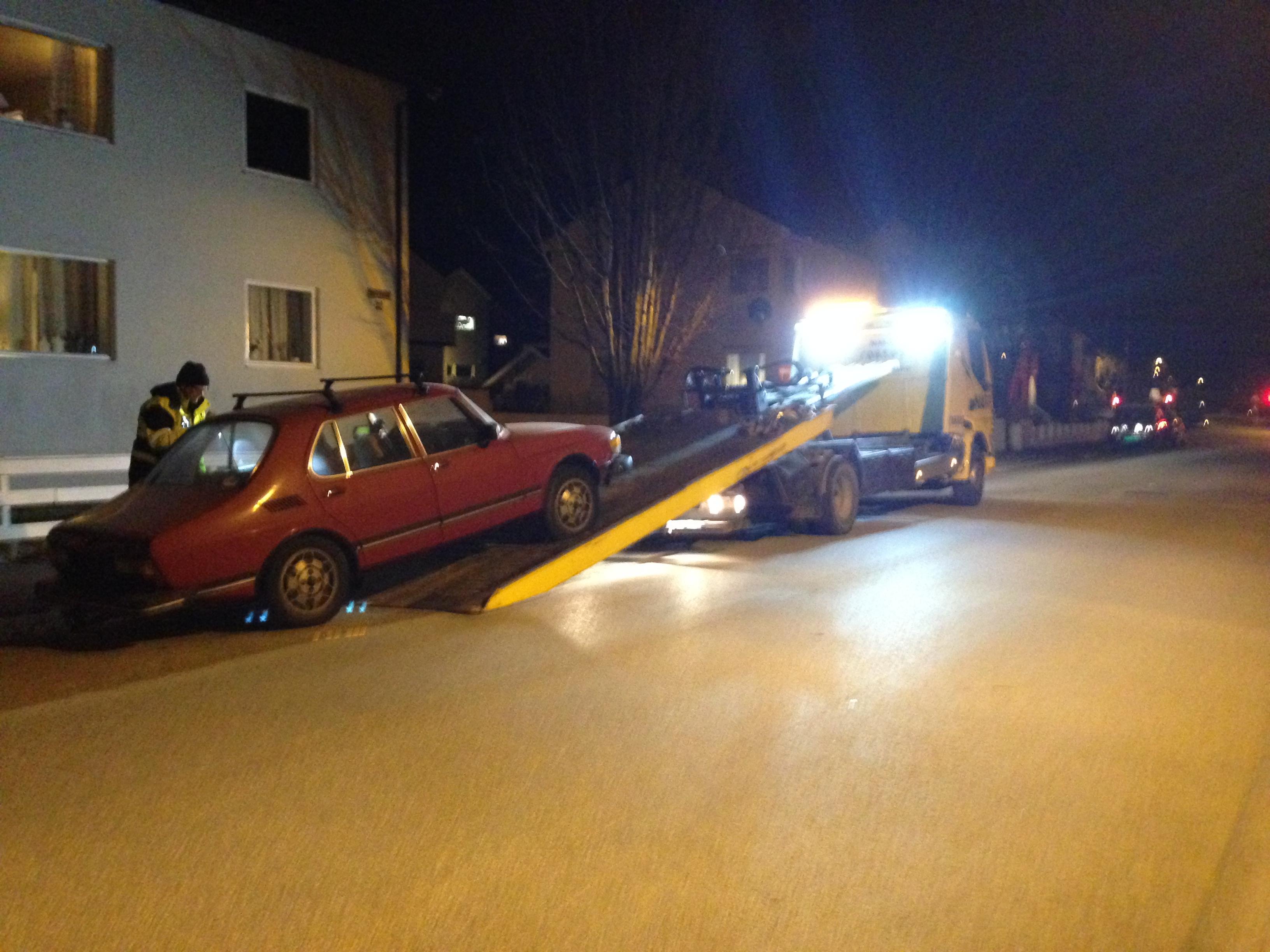 politiet inntauing av bil